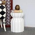 Chinese White Color Ceramic Porcelain Garden Stool
