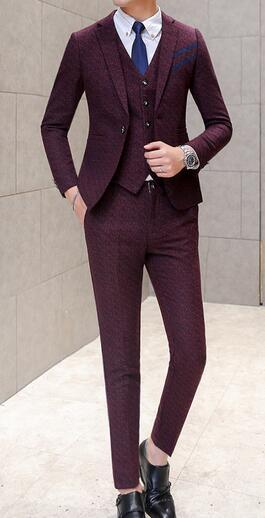 Wine Red Men Suits
