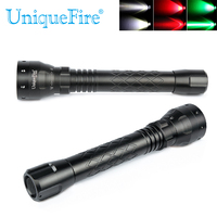 UniqueFire Flashlight UF 1502 XRE Led Light Green/Red/White Light 3 Mode Light Convex Lens Aluminum Torch For Camping,Hunting