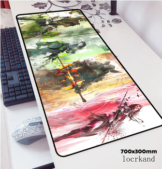 guild wars 2 mouse pad 700x300x3mm pad mouse notbook computer padmouse Popular gaming mousepad gamer to keyboard mouse mats 1