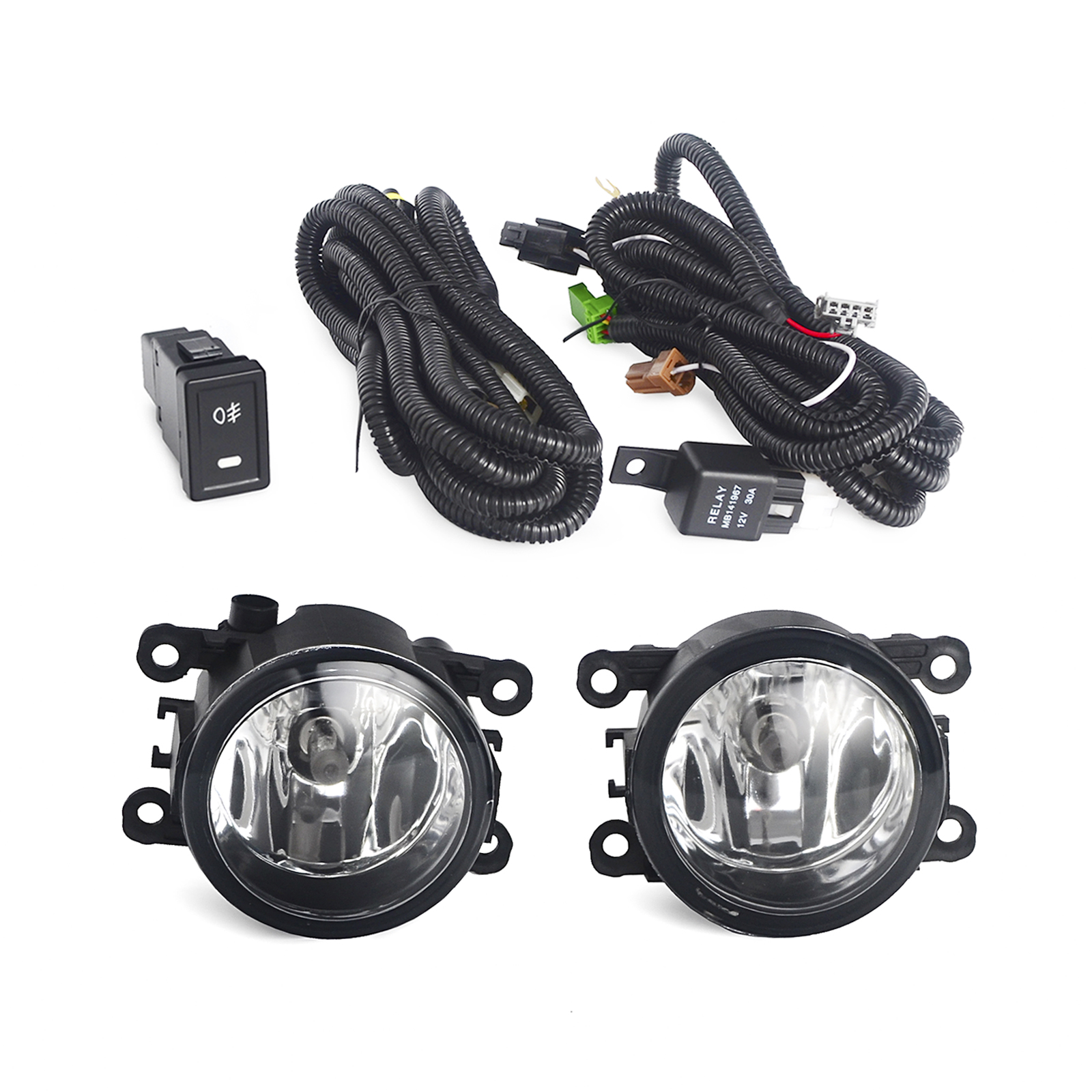 H2CNC Car Front Driving Fog Lights Lamp Assembly Switch Cable Kit For Suzuki Grand Vitara SX4