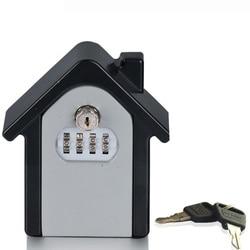 Sejf hasło i zamek kluczowy dom rodzina bezpieczeństwo na zewnątrz klucze schowek bezpieczeństwa do montażu na ścianie zamek szyfrowy Box|Sejfy|   -