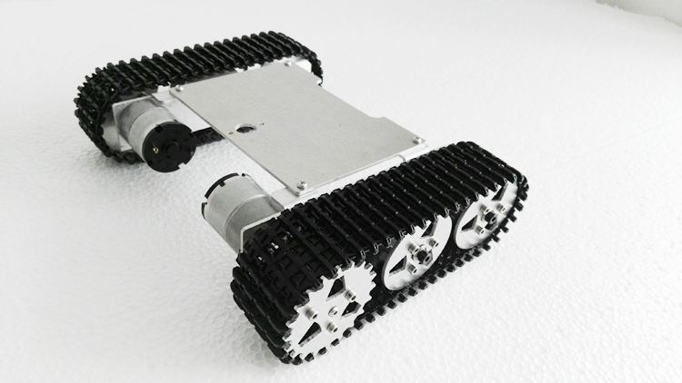 ROT-M1 metal robot tank chassis kit diy toy smart robot 2WD 2 wheel drive robot chassis kit 1 deck