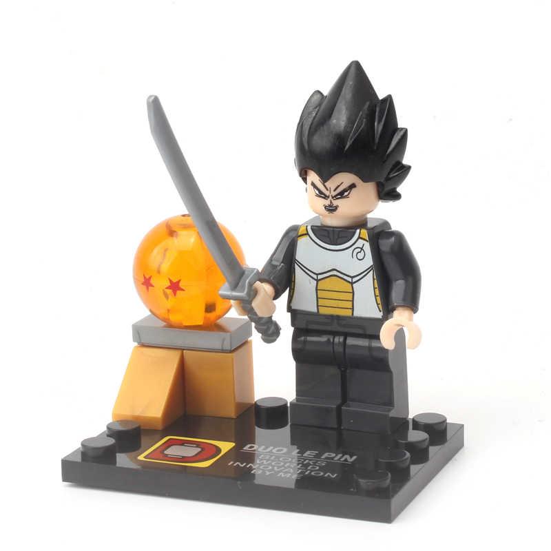 KAYGOO DLP9007 Dragon Ball Z Kuririn Goku Vegeta Mestre Kame Piccolo Dos Desenhos Animados Blocos de Construção Tijolos Figuras de Brinquedo
