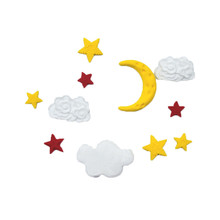 Star Moon Silicone Mold Cloud Fondant Cake Decorating Tools DIY Chocolate gumpaste mold Cookie Baking