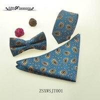 CHCUM Soie Cravate Cravate Set Paosley Hommes Cravate cravates Pour Hommes 2017 Robe Collocation Pour De Noce Cravate marque