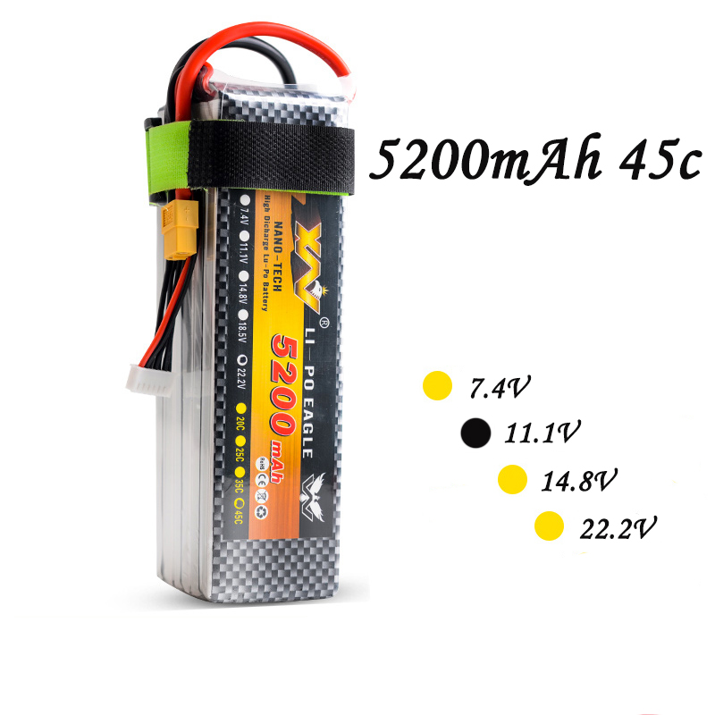 High Quality RC Battery 11.1V 5200mAh 35C  3S 11.1olt RC LiPo Li-Poly Battery for Helicopters Quadcopter RC drone kit 2pcs high quality 4s full 5400mah 14 8v 79 92wh replacement lipo battery for yuneec typhoon h drone rc quadcopter