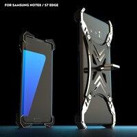 R-ちょうど2017新しいサムスン注8 s7エッジケース高級3dユニバーサルハードアルミニウム金属フレーム保護バック電話ケースカバー