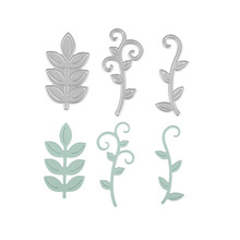 3pc Set Flower Vine Leaves Template Metal Cutting S Sbooking Embossing Cut Stencils Cards Home