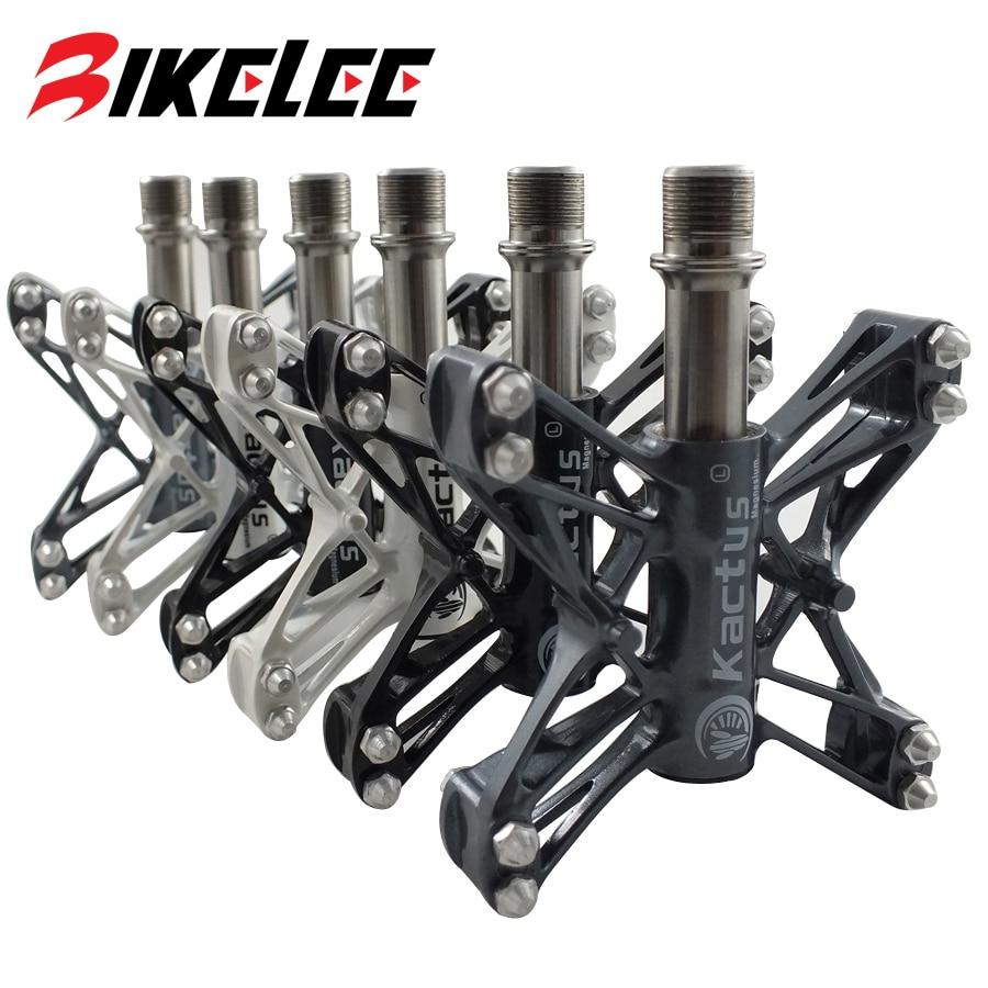 Hot Sale Ultralight 80g Mountain Bike Pedals BMX MTB Road Cycling Magnesium Pedal Platform CNC Titanium Ti Axle Spd Pedals