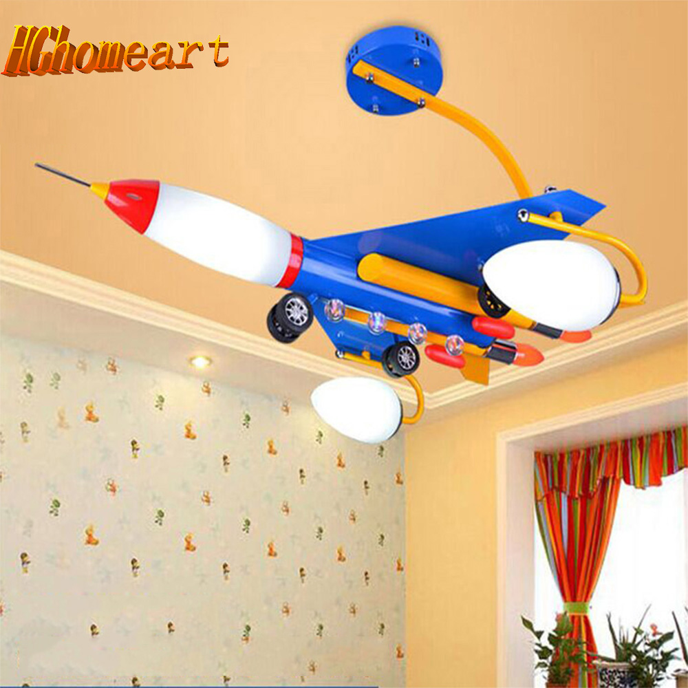 Baby Room Chandelier Lighting Iron Aircraft Cartoon Suspension E14 Lamp Acrylic Wrought Cartoon Led Chandeliers for Bedrooms wrought iron chandelier aircraft lamp boy children master bedroom room led chandeliers creative cartoon