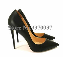 Hot Selling Women Classical Style Pointed Toe Pumps 12cm Heel Formal High Heel Office Ladies Dress Shoes Free Shipping(China)