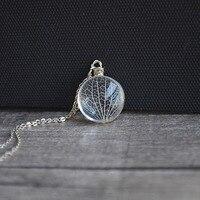 Kabbalah Tree Of Life Lá Tĩnh Mạch Bông Hoa Thật 925 Sterling Silver Chain Statement Necklace Phụ Nữ Choker Thời Trang Vintage Boho