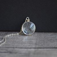 Kabbalah Tree Of Life Foglie Vena Fiori Veri 925 Sterling Silver Catena Normativa Donne Collana Choker di Modo Dell'annata Boho
