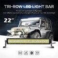 Oslamp Triple fila 240 W 22 pulgadas recta LED Light Bar inundación del punto Combo haz Offroad conducción del trabajo del Led camioneta SUV ATV 4x4 12 V
