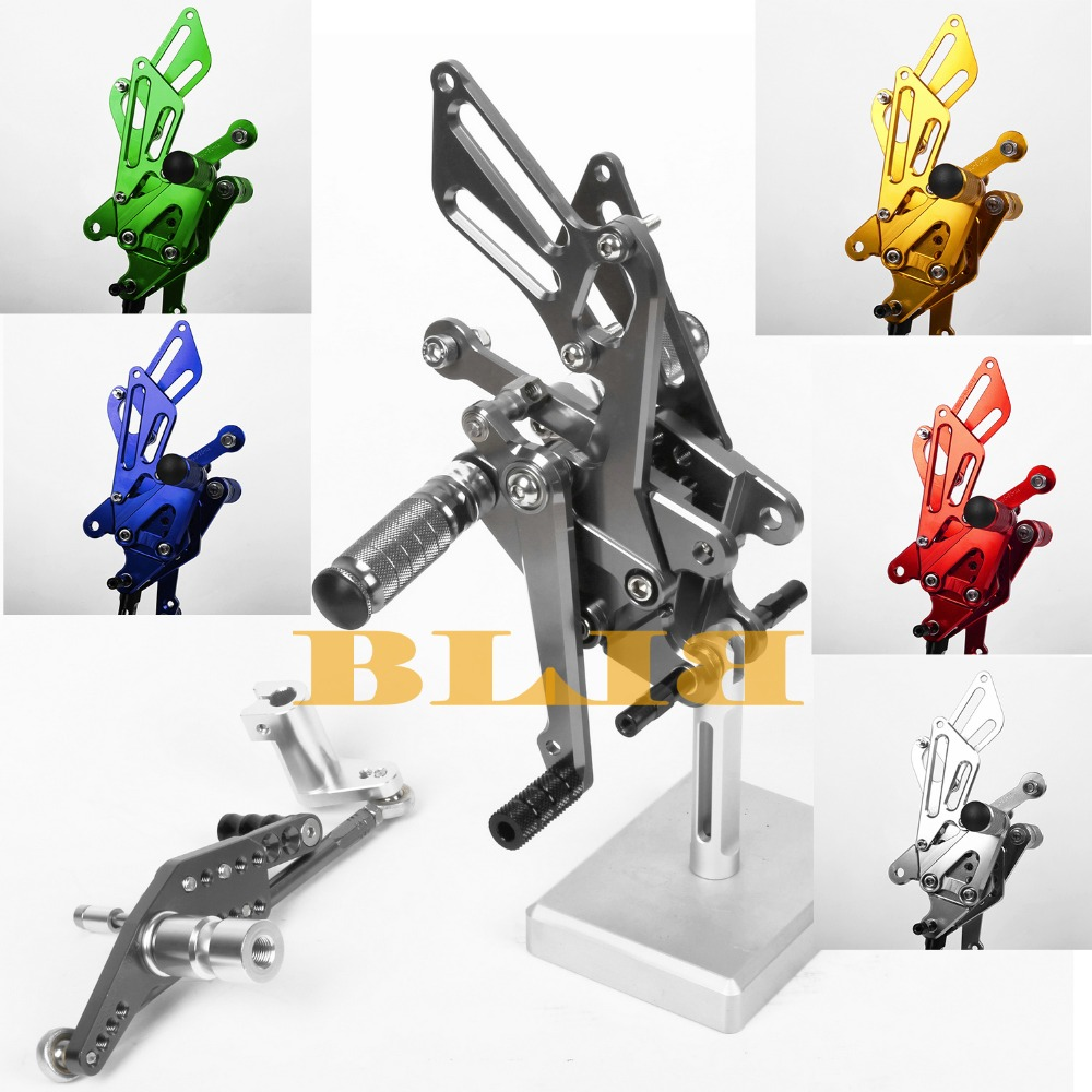 8 Colors For Honda CBR1000RR 2008-2013 Motorcycle Foot Rests CNC Adjustable Foot Pegs CNC Rearsets Rear Set Motorbike Footpegs