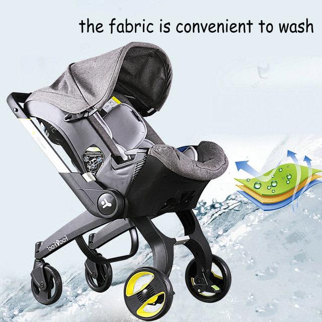 Três-em-um da moda quente do bebê carrinho de criança carrinho de design especial para bebê recém-nascido multifuncional berço & assento de segurança para crianças