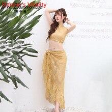 Belly Dance Practice Clothes 2019 New Sleeveless Top Hip Scarf Set Summer Beginner Indian Oriental Dance Wear Elegant Costume