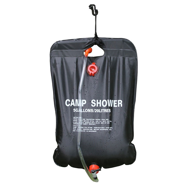 Portable Shower Bag : L portable outdoor shower bag solar water