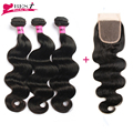 Malaysian Body Wave With Closure 3 Bundles Malaysian Virgin Hair Body Wave With Closure 7a Grade Unprocessed Human Hair Weave