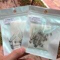 20 pcs premade Bobinas de Fio de Aquecimento para o Cigarro Eletrônico RDA rda Gotejador + Algodão orgânico japonês Resistência do Fio pavio bobinas