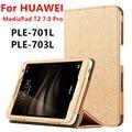 Funda para huawei mediapad t2 7.0 pro tableta cubierta elegante de cuero de imitación de protección para huawei youth ple-701l ple-703l protector pu