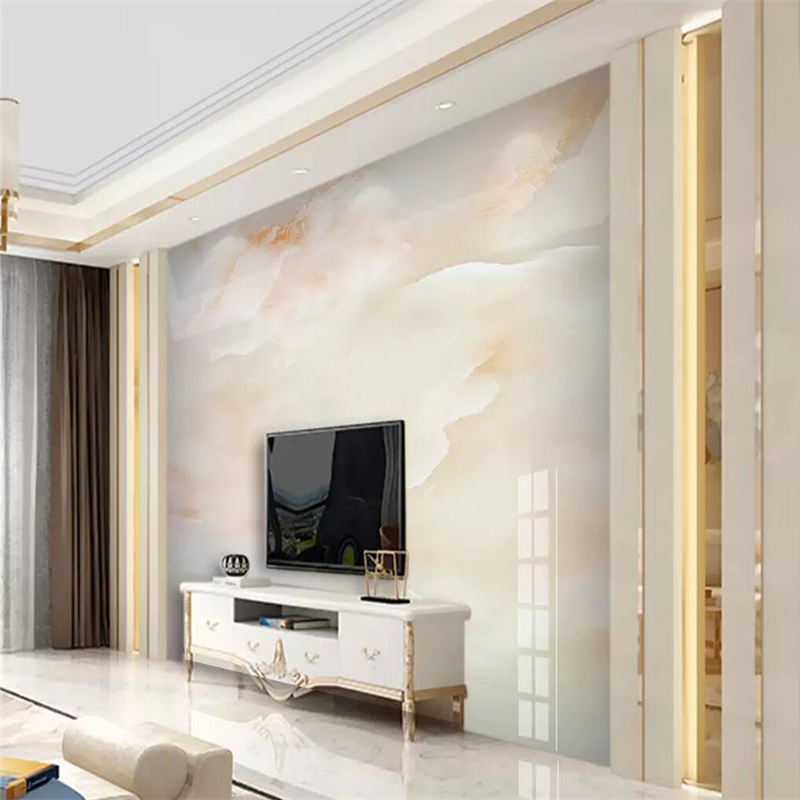 Decorative Wallpaper Cloud Jade Hd Marble Landscape Background Wall Painting