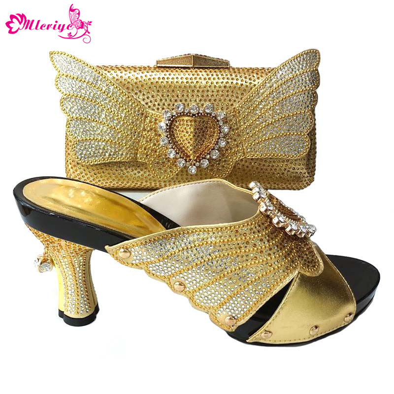 Italian Shoes with Matching Bags Shoes and Matching Bag for Nigeria Party 1165-2 gold Nigerian Women Wedding Shoes and Bag Sets free delivery 9225 inverter argon arc welding machine cooling fan small fan 92 92 25mm dc24v copper motor