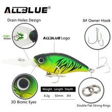 ALLBLUE Suspending Deep Diving Crankbait Fishing Lures 8.2g/50mm Lifelike Wobblers With 8# Hooks peche isca artificial