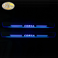 SNCN 4PCS Acrylic Moving LED Welcome Pedal Car Scuff Plate Pedal Door Sill Pathway Light For Opel Corsa B D E 2016 2017 2018