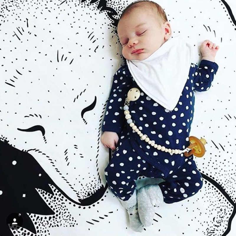 Dla dzieci gry dla dzieci maty okrągły dywan dywaniki maty bawełna indeksowania koc dywan dla dzieci dekoracja pokoju INS dziecko prezenty Photograp