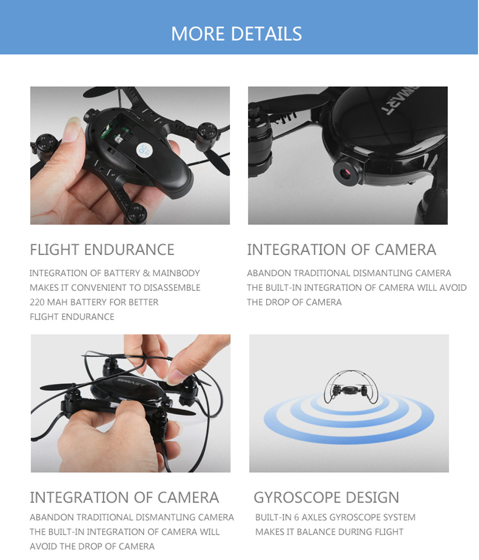 18 Newest Professional mini Drone rc quadcopter indoor selfie drones with camera hd Racing FPV helicopter toys for children 20