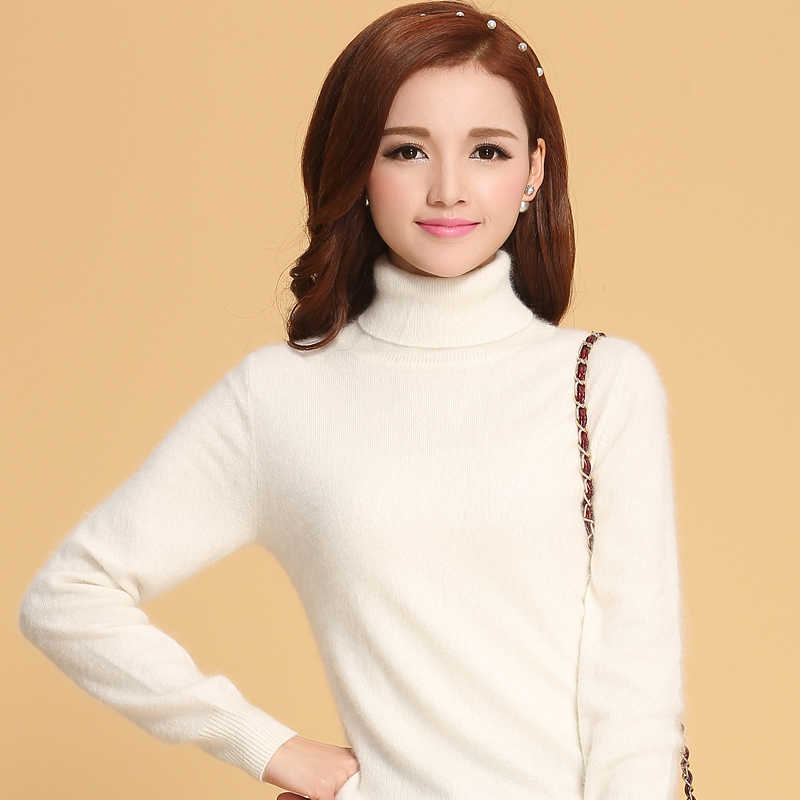 Women Sweater 100% Cashmere Knitted Sweater Winter Turtleneck Warm Sweaters for Ladies Pullvoer Hot Sale Cashmere clothes Jumper