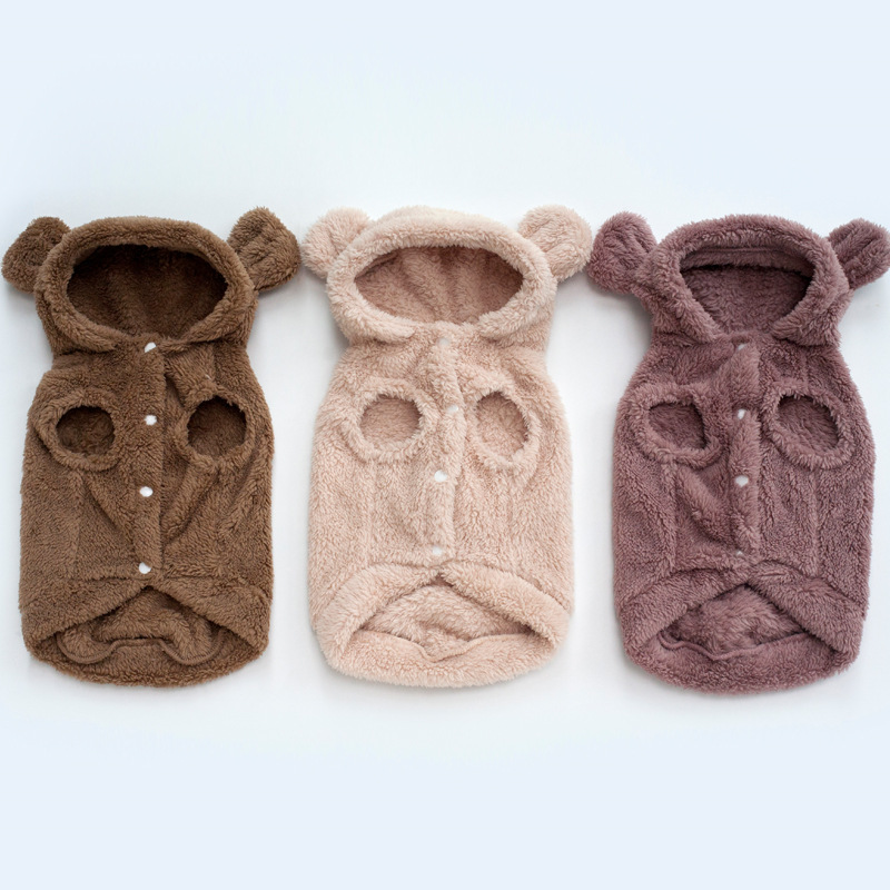 Winter Pet Clothes Small Dog Coat Chihuahua Clothes Puppy Plush Hooded Medium Dogs Jacket Vest Harness Pet Clothing Pets Yorkies