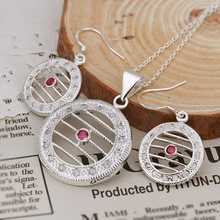 Wholesale Sterling Silver Jewelry Set Silver Fashion Jewelry Fashion Charm Pendant Necklace Earring Set S464