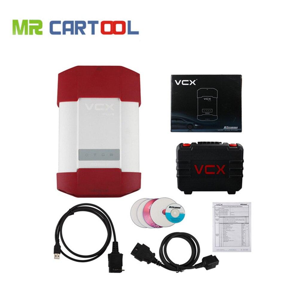 New AllScanner VCX -PLUS MULTI (V9.3 for TOYOTA + V3.014 for Honda + JLR V139) 3 IN 1 Pr ...