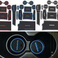 Latex Anti Non Slip Words Interior Car Stickers Cup Door Groove Mat Gate Slot Pad For Nissan Qashqai 2008 to 2016 Car-Styling