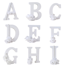 1Pcs A-Z Diamond Flower English Letters Standing Wedding Decoration DIY Name Alphabet Handcrafts Ornaments Home Decor
