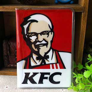 New High quality PVC passport Cover , ID Credit Card Cover business Card - ID Holders for travel -KFC pattern new passport holderstransparent silicone waterproof dirt cover size 9x13 1cm id cards business card credit card bank holders