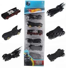 6Pcs/set Super Heroes Avengers Batman Mobil Model Car Tomica Tomy Tsum Cartoon Suit For Children Gifts