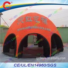 Воздуха до двери, 12mdia* 6mH+ 8 ног надувной воздушный геодезический шатер, здания купол события палатка-паук