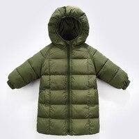 Детские, для малышей Обувь для девочек зимние длинные парки с гусиным пухом пальто куртки для Обувь для девочек Детская одежда; Одежда для м...