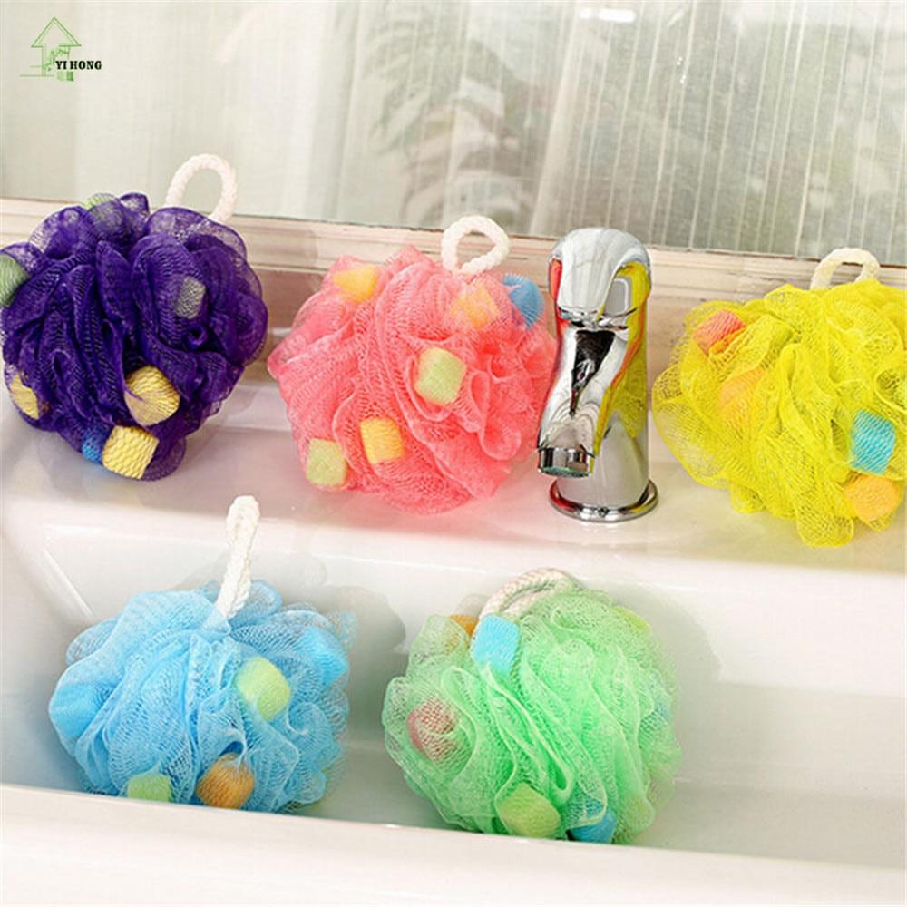 online get cheap body wash sponge aliexpresscom  alibaba group - yi hong flower bath ball bath tubs cool ball bath towel scrubber bodycleaning mesh shower