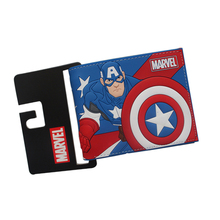Big Hero CAPTAIN AMERICA Wallets Short Slim Bifold Leather purse Dollars Price Photo bolso Cards Holder Billeteras for Students(China)