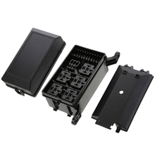 Auto Car 6-way Relay Circuit Socket Car Automotive Car Fuse Relay Holder 12-Slot