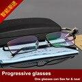 Half Frame Presbyopic Spectacle Frame Distance Purpose Presbyopic Gradual More Focus Intelligence Zoom Glasses Male F 3099