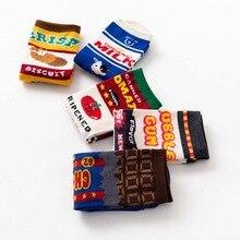 Hot unisex happy socks art abstract creative pattern original socks fruit milk fashion men fun socks