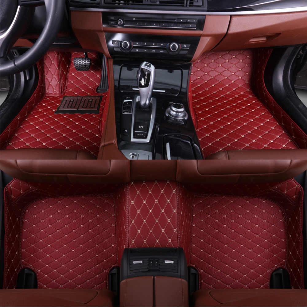Car floor mats for Toyota Camry RAV4 Prius Prado Highlander Sienna zelas verso 5D car-styling carpet liner