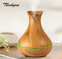 Tbonlyone 400Ml Color Lights Timer Wood Grain For Spa Bedroom Humidifier Ultrasonic Aromatherapy Essential Oil Aroma
