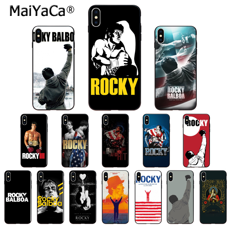 MaiYaCa Rocky Balboa The Best Of Rocky High Quality Phone Case For Apple IPhone 8 7 6 6S Plus X XS MAX 5 5S SE XR Cover